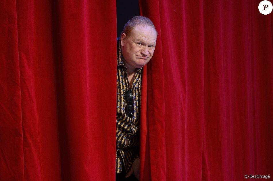 """Franck de Lapersonne - Filage de la pièce """"Le bouffon du Président"""" au théâtre des Variétés à Paris le 10 février 2015."""