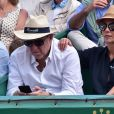 """""""Cristina Cordula et son compagnon Frédéric Cassin assistent à la victoire de N. Djokovic sur G. Simon lors du Monte Carlo Rolex Masters 2017 sur le court Rainier III du Monte Carlo Country Club à Roquebrune-Cap-Martin, le 18 avril 2017."""""""