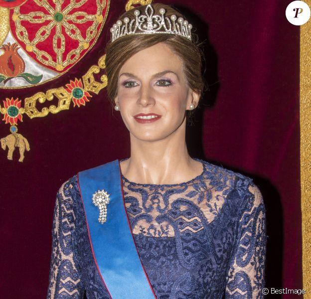 Statue de cire de la reine Letizia d'Espagne inaugurée au Museo de Cera à Madrid le 19 avril 2017, quelques jours après sa révélation.
