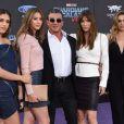 Sylvester Stallone avec sa femme Jennifer Flavin et ses filles Sistine Rose, Sophia Rose et Scarlet Rose Stallone- Avant-première des Gardiens de la galaxie 2 à Los Angeles, le 19 avril 2017.