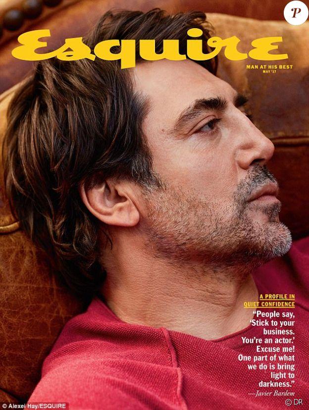 Javier Bardem en couverture d'Esquire - mai 2017
