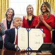 Donald Trump, sa fille Ivanka et son épouse Melania à la Maison Blanche. Washington, le 28 février 2017.