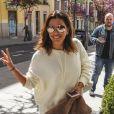 Eva Longoria dans les rues de Madrid. Le 3 avril 2017
