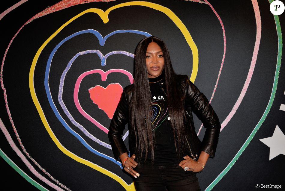 """Naomi Campbell - Lancement de la collection de vêtements """"Child at Heart"""" par Naomi Campbell et la marque Diesel à Paris le 20 avril 2017. © Vereen/Bestimage"""