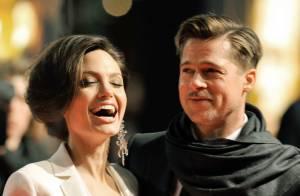 Angelina Jolie... un nouveau look mais toujours amoureuse et radieuse au côté de son Brad Pitt !