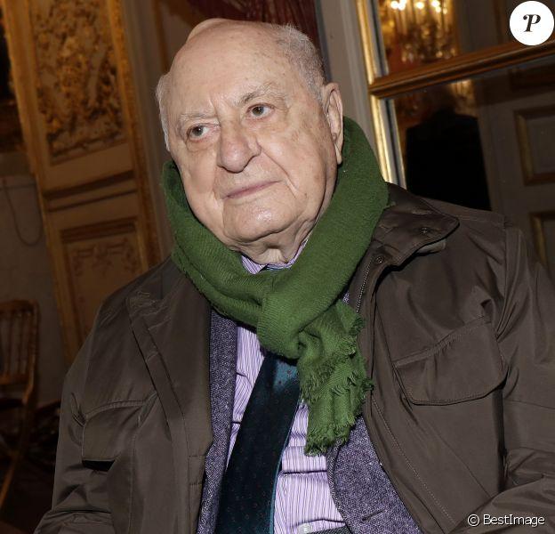 Pierre Bergé à Paris le 4 mars 2017 © Cédric Perrin / Bestimage