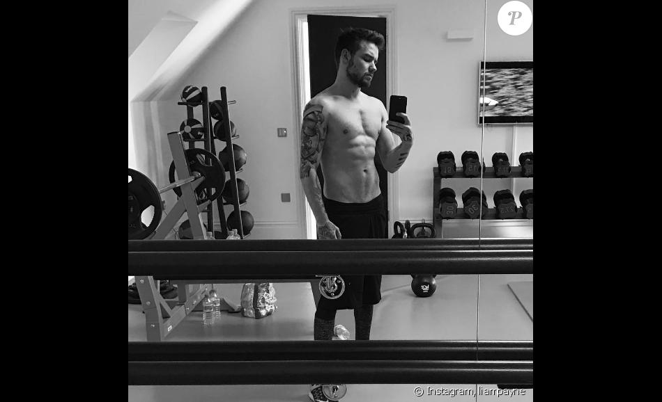 Liam Payne à la salle de sport - Photo publiée sur Instagram en janvier 2017