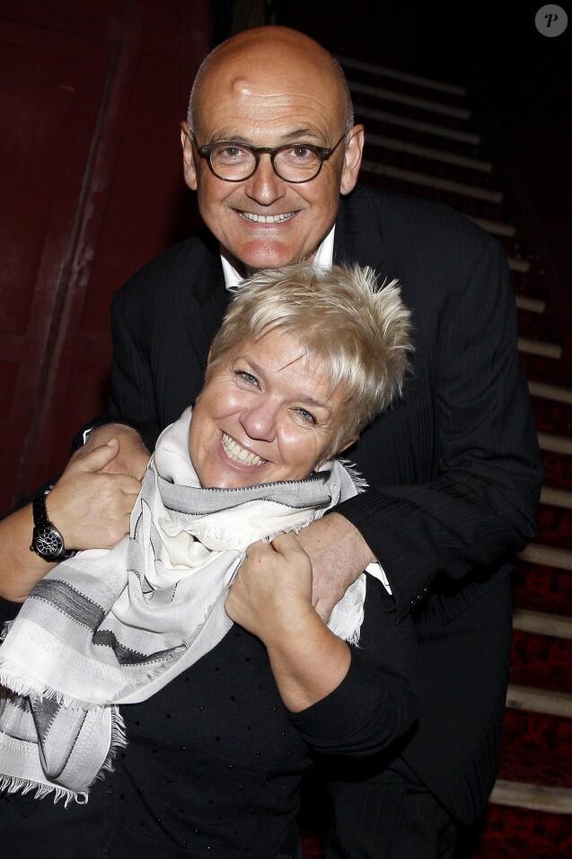 Mimie Mathy et son mari Benoist Gérard à Paris le 7 mars 2015.
