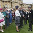 Le prince Philip, duc d'Edimbourg, lors de la première garden party de 2017 dans les jardins du palais de Buckingham, le 16 mai 2017 à Londres.