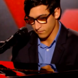 """Vincent Vinel dans """"The Voice 6"""" le 18 février 2017 sur TF1."""