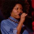 """Shaby et Camille Esteban dans """"The Voice 6"""" le 15 avril 2017 sur TF1."""