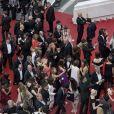"""Illustration à la montée des marches du film """"Nelyubov (Faute d'amour)"""" lors du 70ème Festival International du Film de Cannes, le 18 mai 2017."""