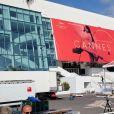 Le Palais des festivals et des congrès de Cannes - Illustration du 70e festival de Cannes le 15 mai 2017.
