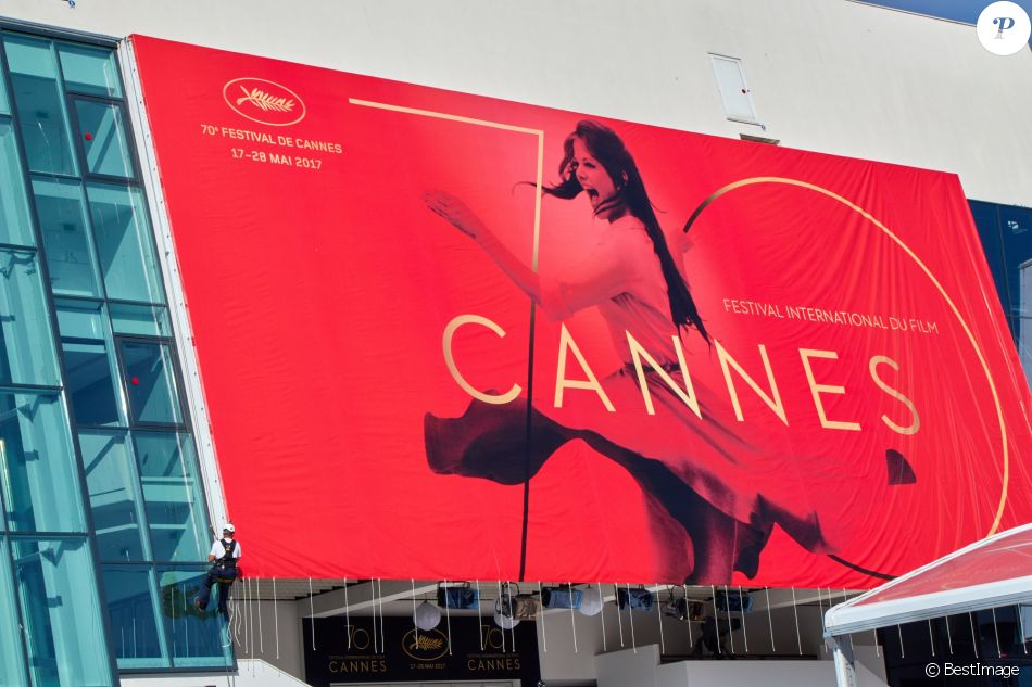 Le Palais des festivals de Cannes - Illustration du 70e festival de Cannes le 15 mai 2017.