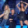 Clara Morgane et Leila Ben khalifa dansent avec Arthur dans  Vendredi tout est permis , sur TF1 le 19 mai 2017.