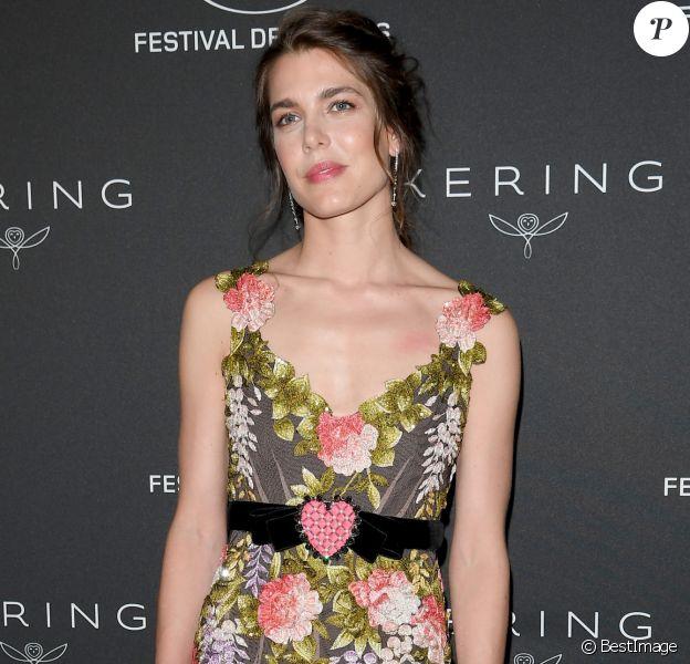 """Charlotte Casiraghi - Le Festival de Cannes et le groupe Kering organisent le dîner de la présidence en l'honneur du programme """"Women in Motion"""", qui récompense les femmes de l'industrie du cinéma lors du 70ème Festival International du Film de Cannes, France, le 21 mai 2017. © Kering/Bestimage"""