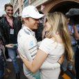 Nico Rosberg (vainqueur du Grand Prix de Monaco ) et sa femme Vivian Sebold (enceinte) - Grand Prix de Formule 1 de Monaco le 24 mai 2015