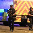 La police présente suite à l'attaque au concert d'Ariana Grande le 22 mai 2017 à Manchester. Peter Byrne/PA Wire