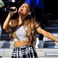 Ariana Grande donne un concert à Tokyo, le 14 septembre 2014.