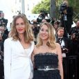 Cécile de France et Ludivine Sagnier (bijoux Chaumet) - Montée des marches de la Soirée 70ème Anniversaire lors du 70ème Festival International du Film de Cannes. Le 23 mai 2017. © Borde-Jacovides-Moreau / Bestimage