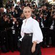 Emmanuelle Béart- Montée des marches de la Soirée 70ème Anniversaire lors du 70ème Festival International du Film de Cannes. Le 23 mai 2017. © Borde-Jacovides-Moreau / Bestimage