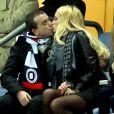 Arnaud Lagardere et Jade Foret - Match comptant pour la qualification de la prochaine Coupe du Monde de football au Bresil entre la France et l' Espagne (0-1) au stade de France a Saint-Denis le 26 mars 2013.
