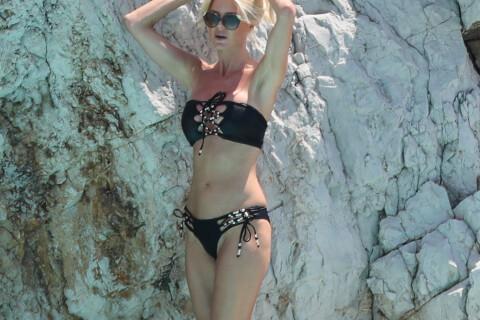 Victoria Silvstedt : La déesse plantureuse se dévoile à la piscine de l'Eden-Roc