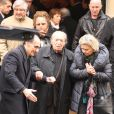 JEAN-MARC THIBAULT ET SON EPOUSE SOPHIE AGACINSKI - OBSEQUES DE ROSY VARTE EN L'EGLISE ARMENIENNE A PARIS LE 19 JANVIER 2012.19/01/2012 - PARIS