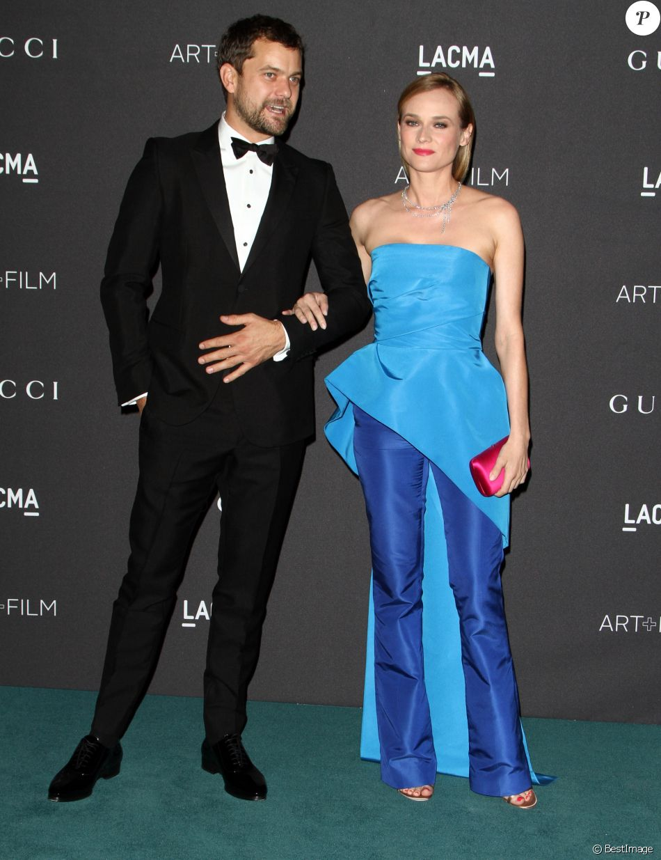"""Diane Kruger et son compagnon Joshua Jackson - Gala """"The LACMA 2015 Art+Film"""" en l'honneur de James Turrell et Alejandro Inarritu à Los Angeles, le 7 novembre 2015."""