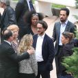 Exclusif - François Hollande aux cotés de son père George Hollande et de son fils Thomas Hollande, a accompagné son frère aîné Philippe Hollande pour son dernier voyage au funérarium de Cannes à 12h00 le 22 mai 2017.