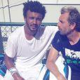 Maxime Hamou pose avec  Julien Benneteau sur Instagram, le 16 mai 2017.