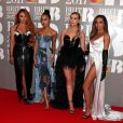 Perrie Edwards, Jesy Nelson, Jade Thirlwall, Leigh-Anne Pinnock, aka Little Mix, arrivant aux Brit Awards 2017 à Londres, le 22 février 2017.