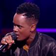 Black M lors de la finale de  The Voice 6  sur TF1 le 10 juin 2017.