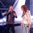 Nicola Cavallaro et Zazie ont chanté  Time after time  de Cindy Lauper lors de la finale de  The Voice 6 , sur TF1 le 10 juin 2017.