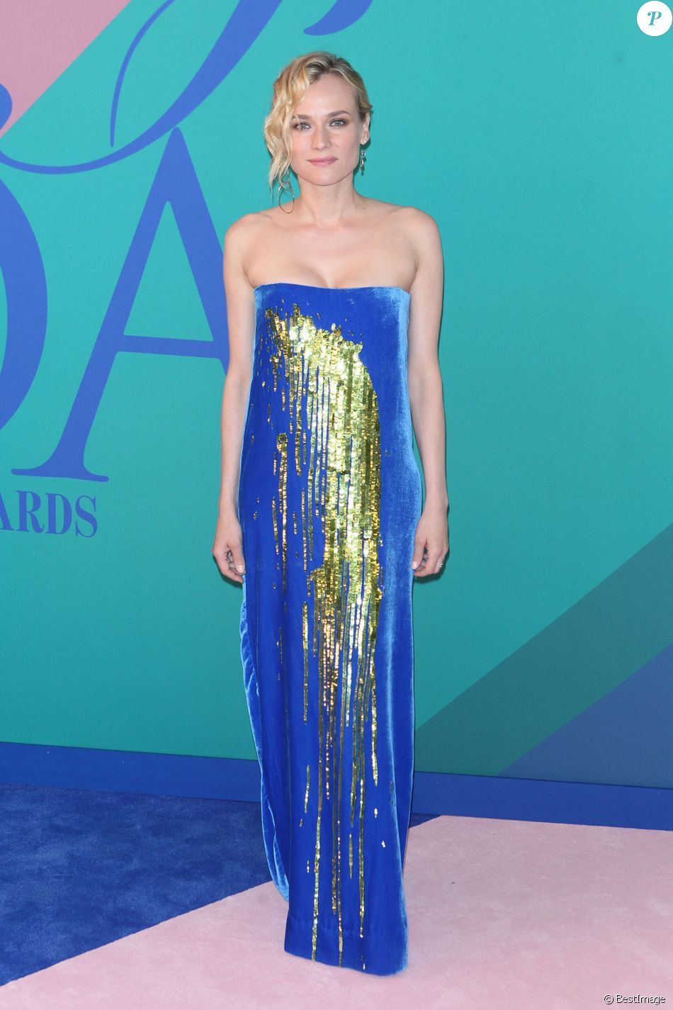 Diane Kruger assiste aux CFDA Fashion Awards 2017 au Hammerstein Ballroom. New York, le 5 juin 2017.