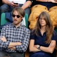 Ophélie Meunier et Mathieu Vergne dans les tribunes des Internationaux de Tennis de Roland Garros à Paris le 7 juin 2017 © Cyril Moreau-Dominique Jacovides/Bestimage C