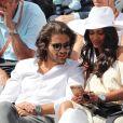 Hannah Romao et Renan Pacheco dans les tribunes des Internationaux de Tennis de Roland Garros à Paris le 7 juin 2017 © Cyril Moreau-Dominique Jacovides/Bestimage
