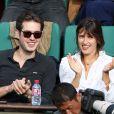 Jeanne Damas et son compagnon dans les tribunes des Internationaux de Tennis de Roland Garros à Paris le 7 juin 2017 © Cyril Moreau-Dominique Jacovides/Bestimage