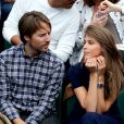 Ophélie Meunier et Mathieu Vergne dans les tribunes des Internationaux de Tennis de Roland Garros à Paris le 7 juin 2017 © Cyril Moreau-Dominique Jacovides/Bestimage