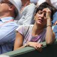 Erika Moulet dans les tribunes des Internationaux de Tennis de Roland Garros à Paris le 7 juin 2017 © Cyril Moreau-Dominique Jacovides/Bestimage