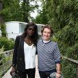 Thierry Frémont et sa femme Gina (enceinte) au village des Internationaux de Tennis de Roland Garros à Paris le 7 juin 2017 © Cyril Moreau-Dominique Jacovides/Bestimage