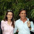 Anne-Claire Coudray et son compagnon Nicolas Vix au village des Internationaux de Tennis de Roland Garros à Paris le 8 juin 2017 © Cyril Moreau-Dominique Jacovides/Bestimage