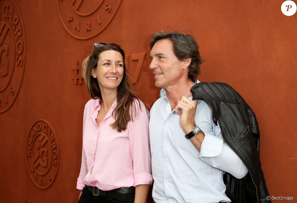 Anne-Claire Coudray et son compagnon Nicolas Vix au village des Internationaux de Tennis de Roland Garros à Paris le 8 juin 2017 © Cyril Moreau-Dominique Jacovides/Bestimage