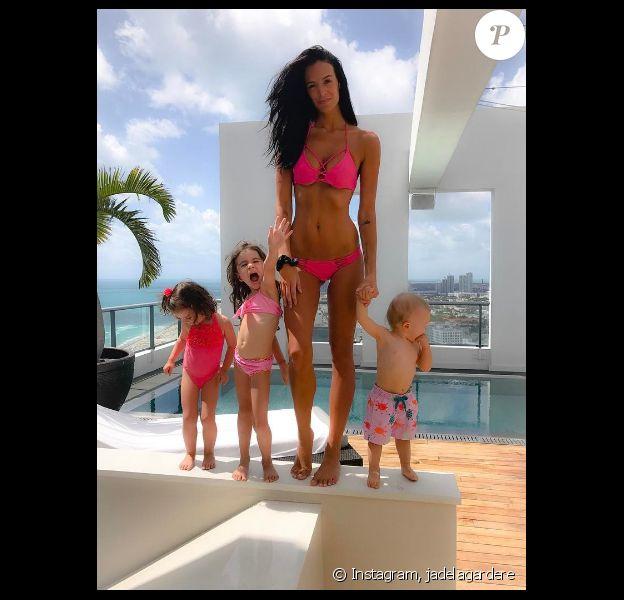 Jade Lagardere et ses enfants - Photo publiée sur Instagram le 12 avril 2017