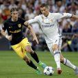 Cristiano Ronaldo lors du match Real Madrid v Atletico de Madrid à Santiago Bernabeu. Madrid, le 2 mai 2017.