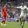 Cristiano Ronaldo lors du match Real Madrid v Bayern Munich à Madrid. Le 18 avril 2017.
