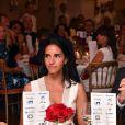 Danièle et son mari Franck Dubosc - 5e gala annuel de l'Unité Locale d'Antibes-Juan les Pins-Vallauris de la Croix-Rouge Française à l'hôtel du Cap-Eden-Roc. Antibes, le 10 juin 2017.