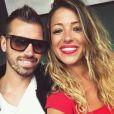 Camille Sold (Koh-Lanta 2012) pose avec son compagnon le footballeur Morgan Schneiderlin sur Instagram en juin 2017, à l'occasion d'un passage dans les tribunes Adidas à Roland-Garros.