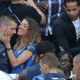 Morgan Schneiderlin et sa compagne Camille Sold lors du match des 8ème de finale de l'UEFA Euro 2016 France-Irlande au Stade des Lumières à Lyon, France le 26 juin 2016. © Cyril Moreau/Bestimage