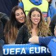 Morgan Schneiderlin et sa compagne Camille Sold au match de l'Euro 2016 France-Albanie au Stade Vélodrome à Marseille, le 15 juin 2016. © Cyril Moreau/Bestimage